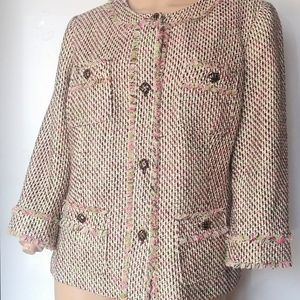 Talbots Henley Button Short Pea Coat Size 12